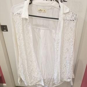Hollister versatile button down blouse